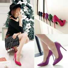 New Fashion Women Suede High Heels Stilettos Pumps Classics Pointed Toe Shoes