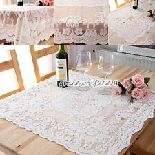 Fshion Lace Tablecloth Rectangular Table Cloth Floral Cover Party Dining Decor