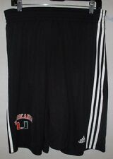 Miami Hurricanes Men Large Practice Basketball Shorts NCAA adidas Climalite (rm)