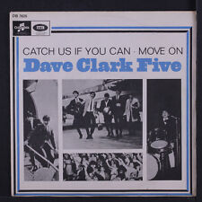 DAVE CLARK FIVE: Catch Us If You Can / Move On 45 (Sweden, PS) rare Rock & Pop