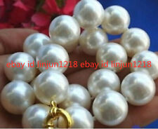 8mm 10mm 12mm 14mm 16mm 18mm 20mm White South Sea Shell Pearl Necklace 18'' AAA