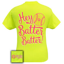 Girlie Girl Originals Unisex T-Shirt - Hey Batter Batter - Softball