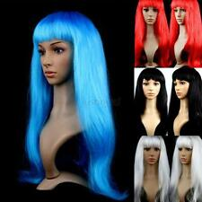 Trendy Girl Women's Long Straight Hair Full Wig Wigs Cosplay Costume Lot Colors