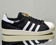 Adidas Originals Superstar 80s Primeknit BLACK WHITE GOLD S82780 MEN'S SHOES