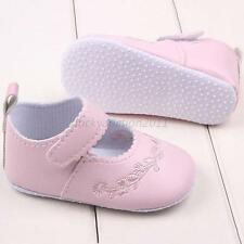 Mary Jane Shoes Toddler Baby Kids Girl PU Leather Soft Sole Crib Shoes Prewalker