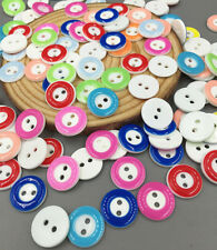 50/100Pcs Mixed Resin buttons Sewing and Scrapbooking 2 holes Crafts 13MM