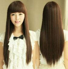 Hot Fashion Style Womens Girls Cosplay Party Long Straight Hair Wigs Full Wigs