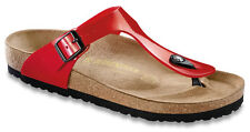 BIRKENSTOCK 743191 GIZEH 35-43 red shiny patent