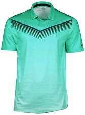 Nike Men's Dri-Fit Major Moment Slow Roll Golf Polo-Turquoise