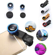 3in1 Fish Eye + Wide Angle Micro Lens Camera Kit for Sony LG HTC Huawei