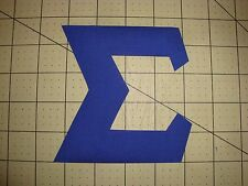NO SEW 4.5 INCH GREEK SORORITY/FRATERNITY IRON ON LETTERS - BLUE