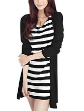 Women Round Neck Long Sleeves Layered Casual Dress