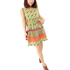 Lady Scoop Neck Sleeveless Novelty Prints Summer Casual Dress