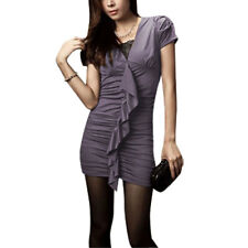 Short Sleeve Stretchy Tunic Shirt Top for Lady