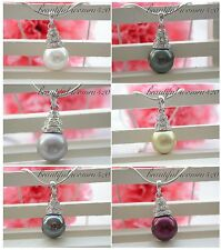 X0203 12mm round  SOUTH SEA SHELL PEARL NECKLACE pendant