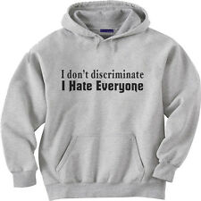 hooded sweatshirt hoodie Men's size sweat shirt I Hate Everyone funny saying