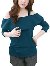 Straps Long Sleeves Pullover Casual Tops for Women