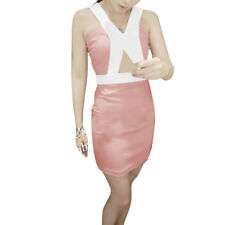 Ladies V Neck Sleeveless Cut Out Casual Stretchy Dress