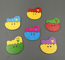 DIY chick hatched wood buttons 2 Holes Fit Sewing Scrapbooking 30mm