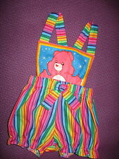 NEW Baby Girls Pink Rainbow Carebears Short Bloomers Romper set Gift Party Retro