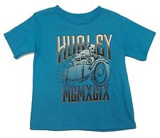New! Hurley Blue Short Sleeve Rider T-Shirt Top Boys Kids Toddler Youth 2T,3T, 6