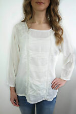 M&S CREAM FLORAL EMBROIDERED BLOUSE SIZE 8 - 22 NEW TOP TUNIC INDIGO @ M&S