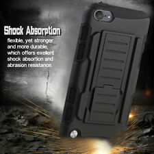 Rugged Hybrid Hard Stand Case Armor Cover+Belt Clip Holster Kickstand for Phone