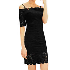Allegra K Girl Short Sleeve Semi-Sheer Lace Stretchy Sheath Dress