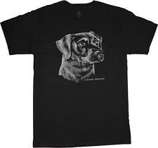 Labrador Retriever  shirt dog breed t-shirt men's t-shirt tee black lab