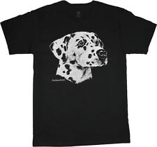 Dalmatian shirt dog breed t-shirt men's t-shirt black tee white design