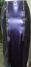 THE FEDERATION RUBBER LATEX LONG 2 ZIP SKIRT  BRAND NEW CROSS DRESS