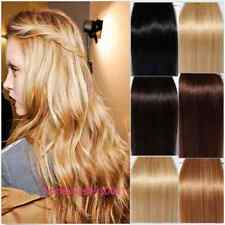 "15"" 18"" 20"" 22"" Lot Clip In 100% Real Remy Human Hair Extensions Full Head 7Pcs"