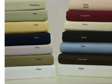 450 Thread Count Combed  Cotton Attached Waterbed Solid Sheet Set - All Sizes