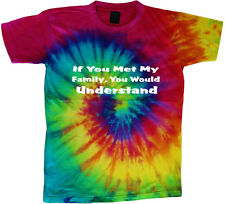 tie dye t-shirt crazy family funny saying shirt tie dyed tee shirt