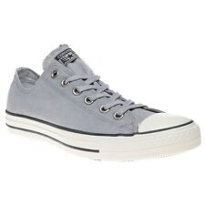 New Mens Converse Grey All Star Ox Canvas Trainers Lace Up