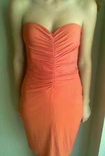 NWOT New Boston Proper Orange Strapless Designer Dress Size 2 Small S Womens Bra