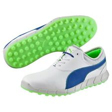 New Ignite Spikeless Puma Golf Shoes White-Surf the Web-Gecko Green 188679 01