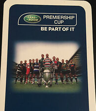 Rugby Premiership Cup Player Picture Fact File Card