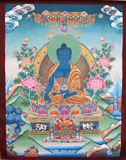Tibetan Thangka Painting of Medicine Buddha 10.5