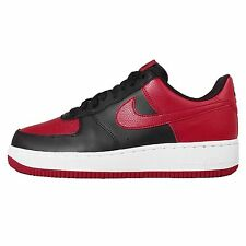 Nike Air Force 1 Low Bred Black Red Mens Casual Shoes AF1 Trainers 820266-009