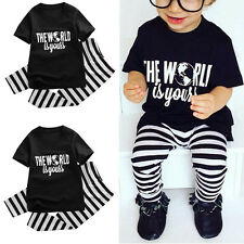 Toddler Kids Baby Boy 2pc T-shirt Tops+Long Pants Trousers Outfit Clothing Set