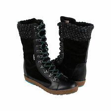 Cushe Boho Chill WP Womens Black Suede & Leather Casual Dress Boots Shoes