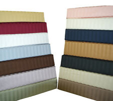 300 Thread Count Stripes Duvet Cover Set Egyptian Cotton With Button Enclosure