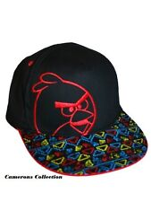Boys Black ANGRY BIRDS Summer/Holiday Colour Peak Baseball Cap age   3 to 12 yrs