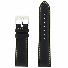 Watch Band Nylon Black Padded Water Resistant Leather Lining