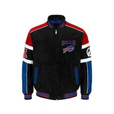 Buffalo Bills suede leather  jacket coat outerwear NFL apparel  FREE SHIPPING