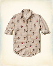NWT Hollister by Abercrombie Mens Patterned Flannel Shirt 100% Cotton S/M/L/XL