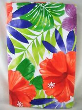 Assorted Sizes Tropical Floral Hibiscus Umbrella Hole Zippered Vinyl Tablecloth