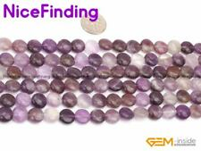 10mm Coin Natural Mixed Stone Loose Beads For Jewelry Making Gemstone Strand 15""