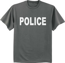 men's big and tall t-shirt white Police design uniform tall shirts for men